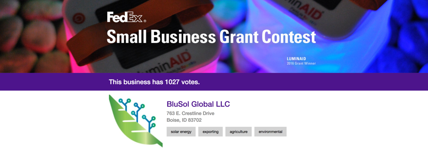 Federal Express Small Business Grant!